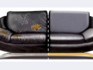 Перетяжка кожаного дивана в Костроме
