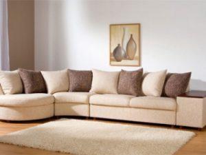 Перетяжка углового дивана на дому в Костроме